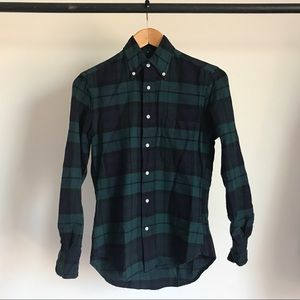 GITMAN BROS VINTAGE PLAID OXFORD SHIRT MSRP $198